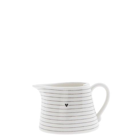 Bastion Collections Sauce Jug / Stripes in Black