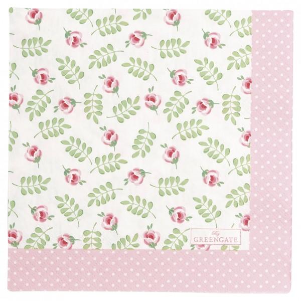 GreenGate Papierserviette Lily petit white