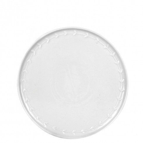 Bastion Collections Teller / Breakfast Plate, White with little hearts