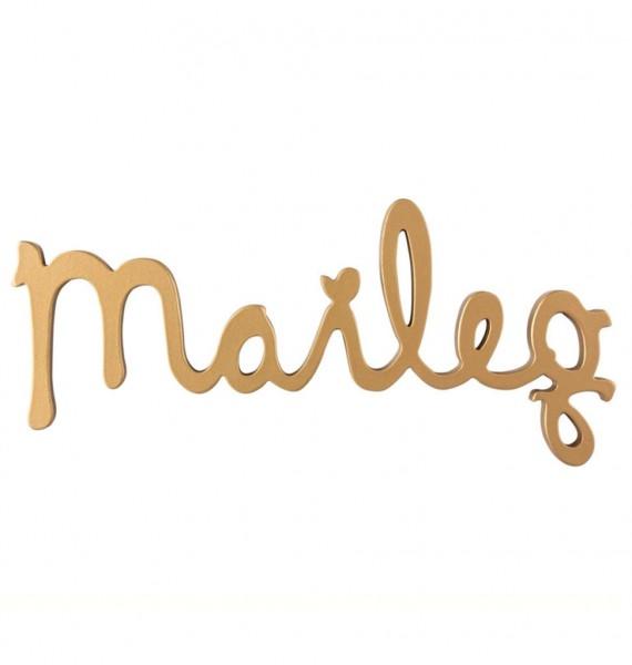 Maileg Schriftzug Logo, gold