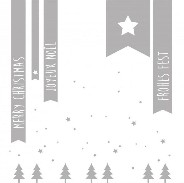 "Räder Papierserviette ""Merry Christmas/Joyeux Noel"""