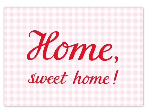 Krima & Isa Postkarte Home Sweet Home