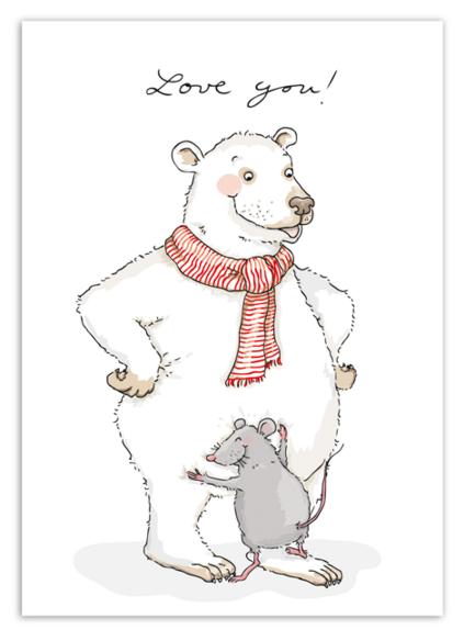 Krima & Isa Postkarte Love you
