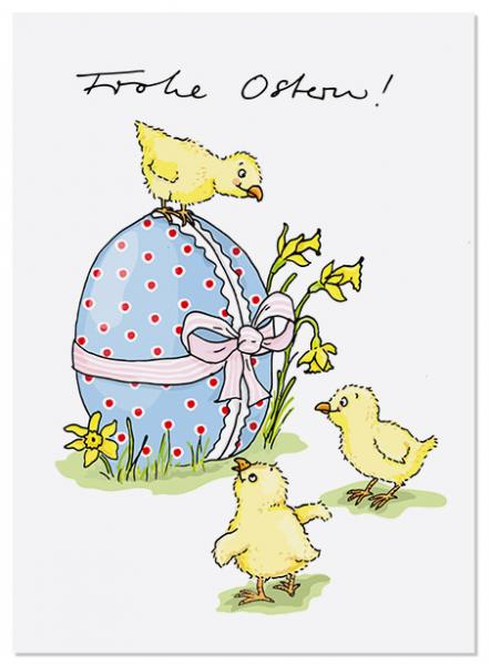 Krima & Isa Postkarte Küken um Ei