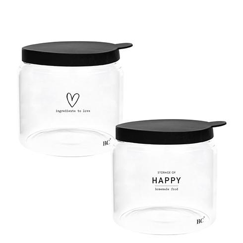 Bastion Collections Vorratsglas Herz / Happy, klein