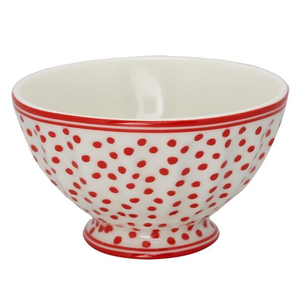 GreenGate Schale / French Bowl Dazzling Dot White, medium, Ltd Edition