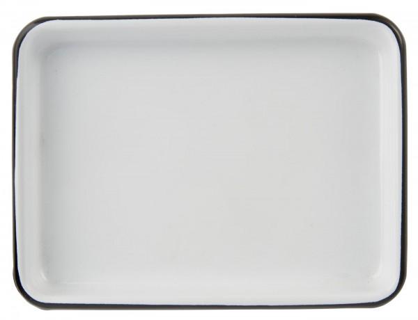 Ib Laursen Emaille Tablett rechteckig, klein