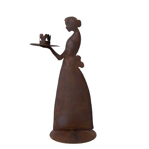 Bastion Collections Kerzenhalter Candle Lady, Brown Antique