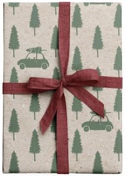 Tafelgut, Geschenkpapier Xmas Cars, 2er Set