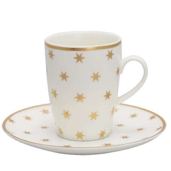 Greengate Espressotasse mt Untertasse Nova Gold