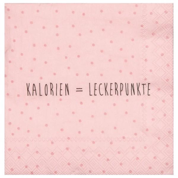 """Räder Kleine Papierserviette """"Kalorien=Leckerpunkte"""""""