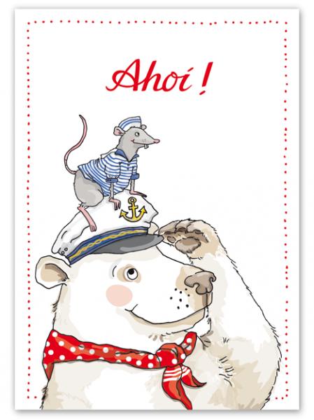 Krima & Isa Postkarte Ahoi Seebär