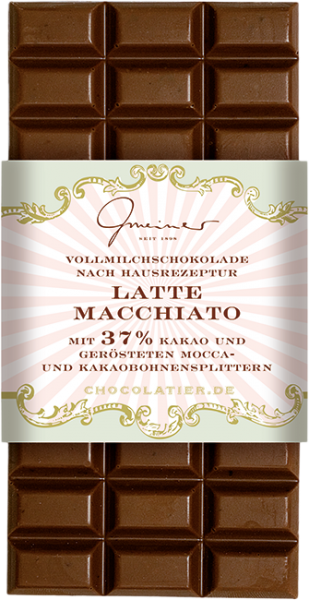 Vollmilch Schokolade, Latte Macchiatto, 100 g