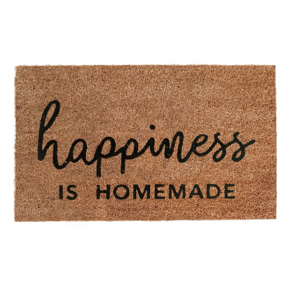 Eulenschnitt Fussmatte Kokos Happiness is Homemade