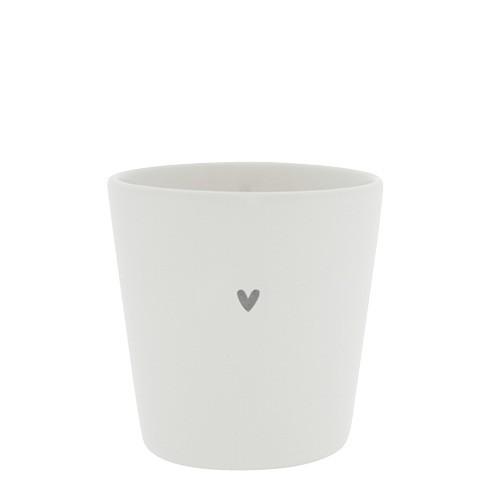 Bastion Collections Becher / Mug Heart, Grey, SS21