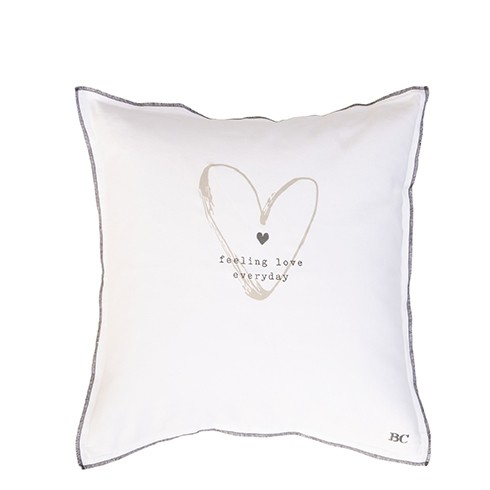Bastion Collections Kissenhülle White Chambray Feeling Love