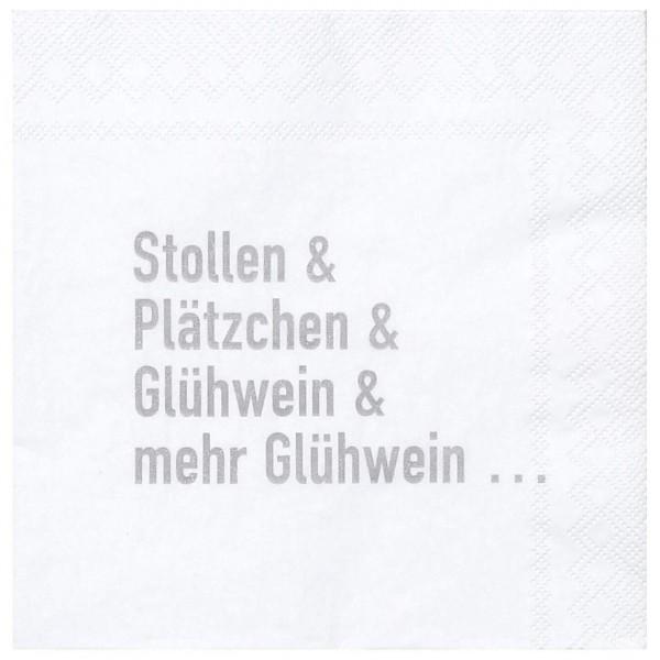 """Räder Kleine Papierserviette """"Stollen, Plätzchen, Glühwein"""""""