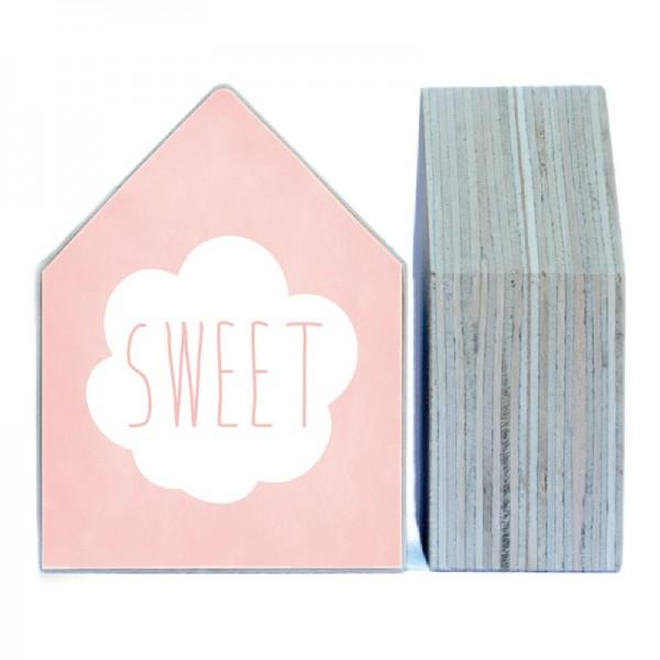 """Dots Lifestyle, Holzhäuschen """"Sweet"""" -peach-, klein"""