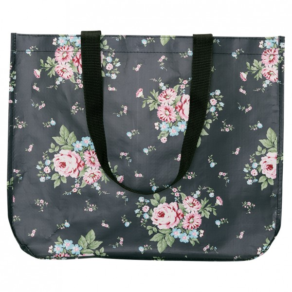GreenGate Shopper Marley Dark Grey, round bottom