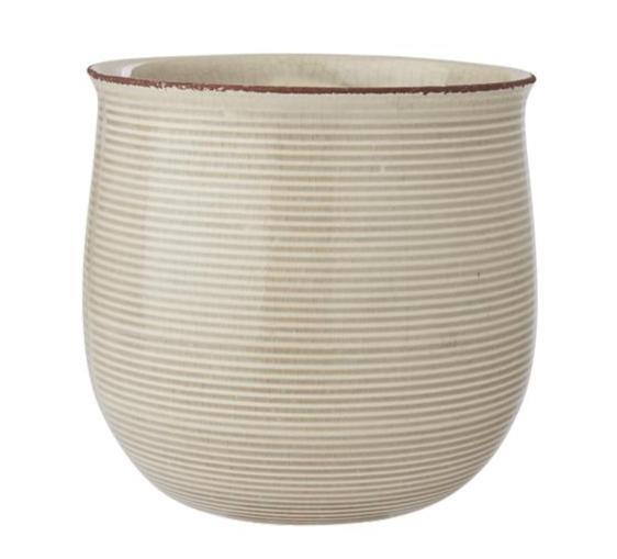 Blumentopf Keramik Streifen Sand