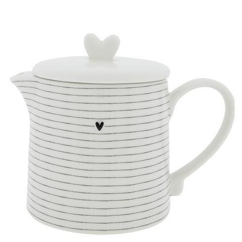 Bastion Collections Teekanne / Teapot Streifen