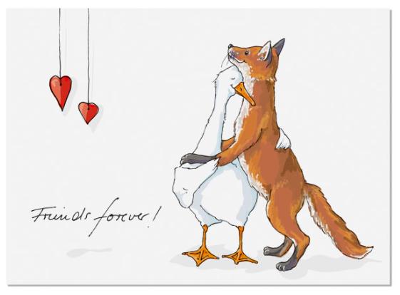 Krima & Isa Postkarte Friends Forever