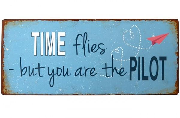 """Ib Laursen Metallschild """"Time flies"""""""