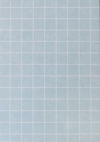 Perlenfischer Postkarte Karo Blau