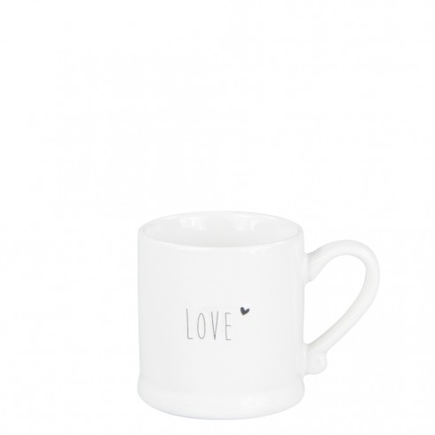 Bastion Collections Espressotasse White Love in Black