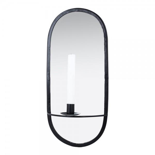 Wandkerzenhalter mit Spiegel