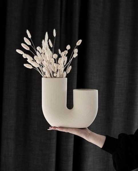 Storefactory Blumenvase STRAVALLA, beige