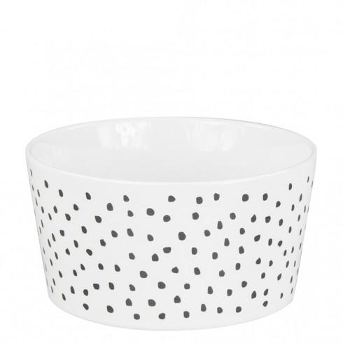 Bastion Collections Schale / Bowl 13,5cm White / Little Dots in Black