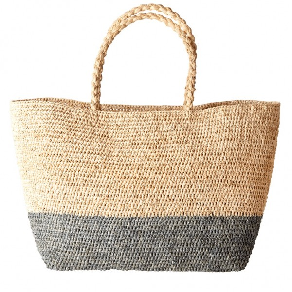 Rice Korb/Einkaufstasche Large Raffia Shopping Bag Sivler