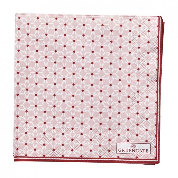 GreenGate Kleine Papierserviette Juno Pale Pink