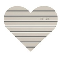 Bastion Collections Notizzettel Heart Notes, Stripes