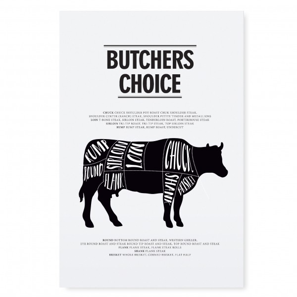 "Tafelgut Poster ""Butchers Choice"", A3"