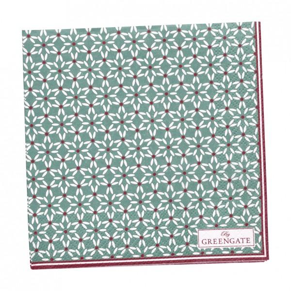 GreenGate Kleine Papierserviette Juno Green