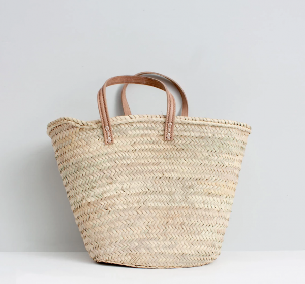 Korbtasche aus Palmblatt, handgewebt