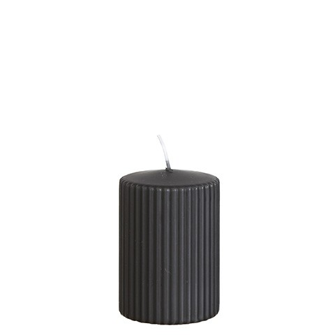 Affari Kerze Rill Carbone Grey (Kohlgrau), klein