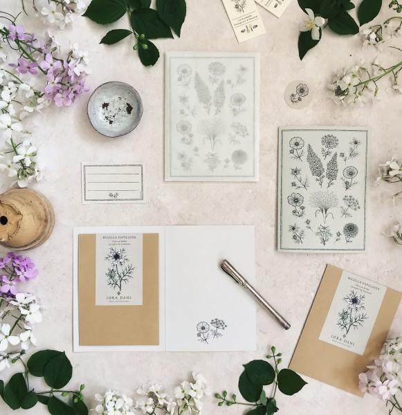 Jora Dahl Grusskarte mit Samentütchen und Kuvert