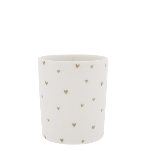 Bastion Collections Becher / Mug Little Hearts, Titane, SS21