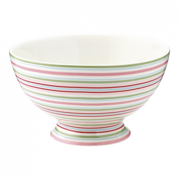 GreenGate Schale / Soup Bowl Silvia Stripe White