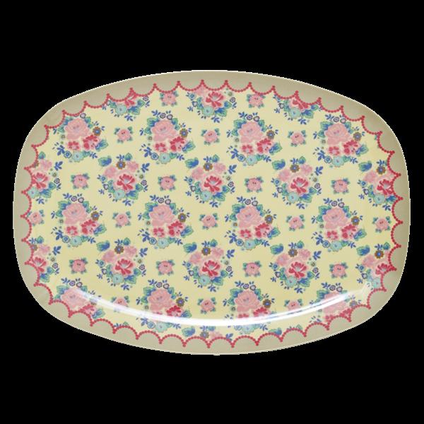 Rice Melamin Teller/Platte, Dutch Rose Print