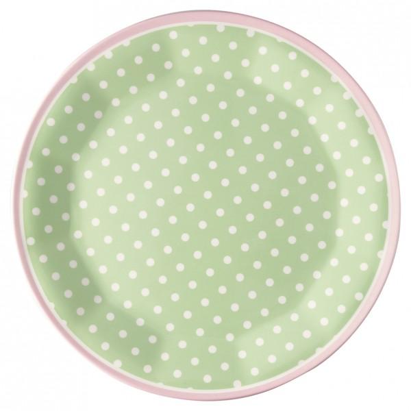 Greengate Melamin Teller Spot Pale Green