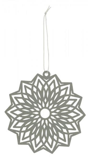 Ib Laursen Scherenschnitt Blume Grau, groß