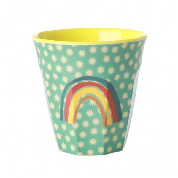 Rice Melamin Becher, Rainbow amd Stars Print