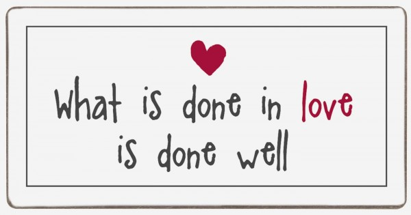 """Ib Laursen Magnet, """"What is done in love"""""""
