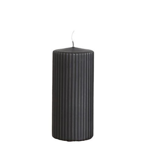 Affari Kerze Rill Carbone Grey (Kohlgrau), groß