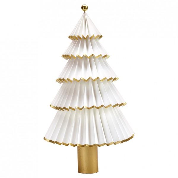 Greengate Weihnachtsbaum Tree Paper Nova white/gold, Groß