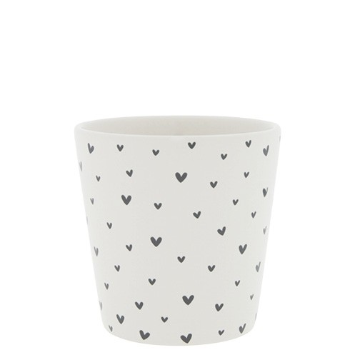 Bastion Collections Becher / Mug Little Hearts, Black, SS21